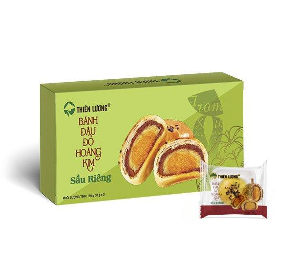 Bánh Đậu Đỏ Hoàng Kim Sầu Riêng (50 g x 3)